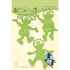Leane Creatief - Lea'bilities Stamping template: children