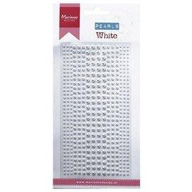Embellishments / Verzierungen Dekoration klæbende perler i hvid