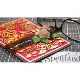 Spellbinders und Rayher Corte e estampagem: Habilidades Forma Camellia gravado Acentos