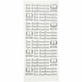 """Sticker Adesivos, texto em alemão, """"para a confirmação"""""""