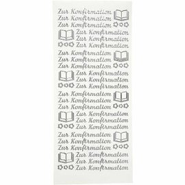 "Sticker Sticker, deutsche Text, ""Zur Konfirmation"""
