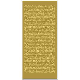 Sticker Autocollants, texte allemand « Einladung »