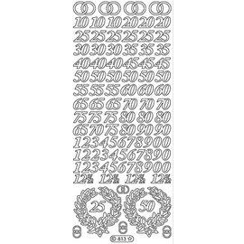Sticker Etiqueta, números Jubilee em ouro