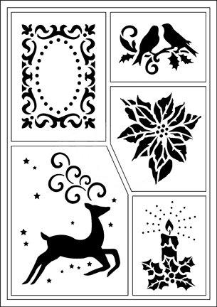 Schablonen Für Verschiedene Techniken Templates Flexible Stencils