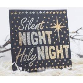 Schablonen, für verschiedene Techniken / Templates sjablonen Universele, Silent Night