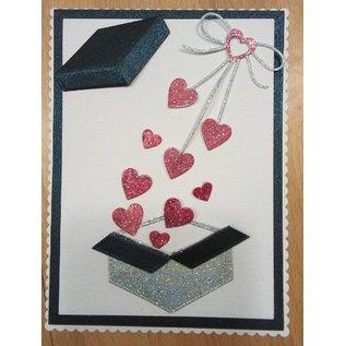 "Penny Black Cutting dies: ""Heart bow"" cardiac loop"