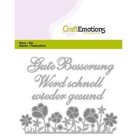 Crealies und CraftEmotions Stanzschablonen: Gute Besserung (DE) Card 11x9cm