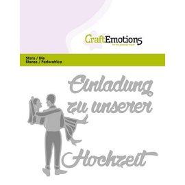 Crealies und CraftEmotions Cutting & Embossing: Einladung carte Hochzeit (DE) 11x9cm