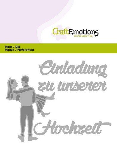 Schön Crealies Und CraftEmotions Cutting U0026 Embossing: Einladung Hochzeit (DE)  Card 11x9cm