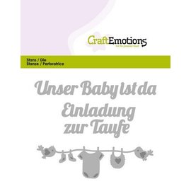 Crealies und CraftEmotions Corte e estampagem: Unser bebê ist da (DE) 11x9cm cartão