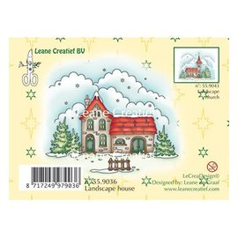 Leane Creatief - Lea'bilities Stamp, casa Paesaggio invernale