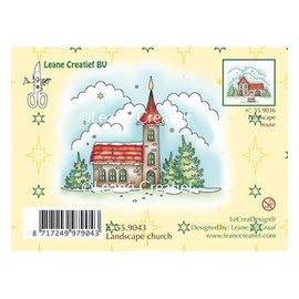 Leane Creatief - Lea'bilities Stamp, paesaggio invernale Chiesa