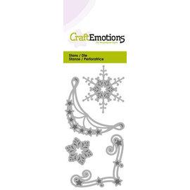 Crealies und CraftEmotions Corte morre: Ornamento de canto 2 x e 2x Eiskrisalle