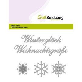 Crealies und CraftEmotions Corte e estampagem: Inverno Glück (DE) 11x9cm cartão