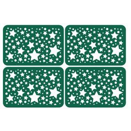 KARTEN und Zubehör / Cards 4 placas de chips com estrelas em tamanho de cartão