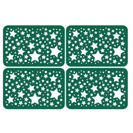 KARTEN und Zubehör / Cards 4 spaanplaat met sterren in kaartformaat