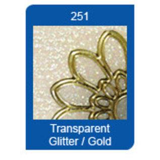 Sticker Glitter Ziersticker, 10 x 23cm, store stjerner, glimmer-guld