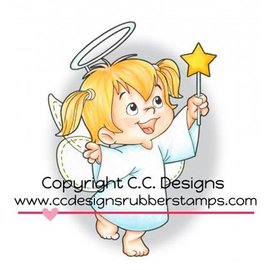 C.C.Designs Gummi (gummi) Stempel: Angel Twila