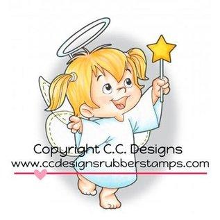 C.C.Designs Gummi (Rubber) Stempel: Angel Twila