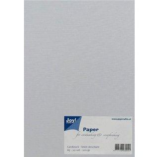 Joy!Crafts / Hobby Solutions Dies A5, papir, linned struktur, hvid