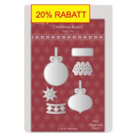 Spellbinders und Rayher Stanz- und Prägeschablone: Weihnachtskugel