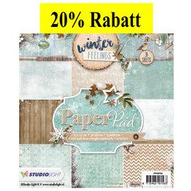 Karten und Scrapbooking Papier, Papier blöcke Designersblock, 15,5 x 15,5 cm Winter Feelings