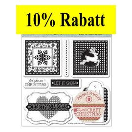 Stempel / Stamp: Transparent timbre en caoutchouc: Thème de Noël