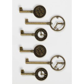 GRAPHIC 45 Shabby Chic Metal Clock Keys