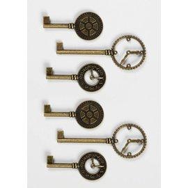 GRAPHIC 45 Touches d'horloge Shabby Chic en métal