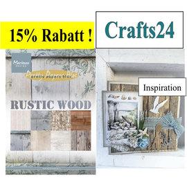 Marianne Design Designersblock, A5, Rustike décors bois