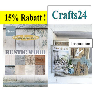 Marianne Design Designersblock, A5, Rustike wood designs
