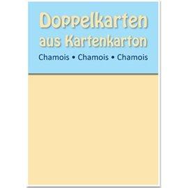 KARTEN und Zubehör / Cards cartões duplos B6, chamois, 250 g / m²