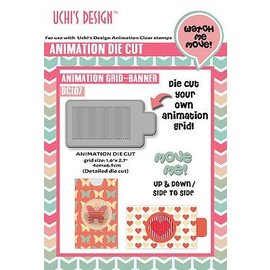 Uchi's Design Cutting Die: Uchi's Design Animation grid Banner
