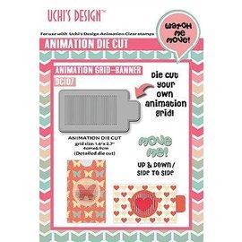 Uchi's Design Cutting Die: Uchi's Design Animazione Griglia Banner