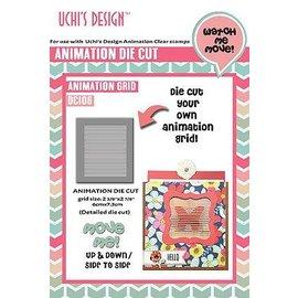 Uchi's Design Cutting Die: griglia di animazione di disegno di Uchi 6 x 7,3 cm
