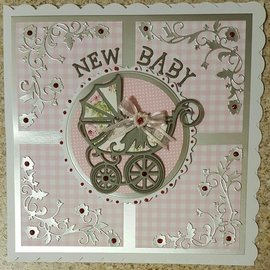 Tonic Stamping- and pre-template: Stroller with loop