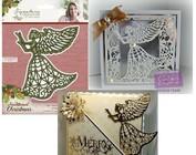 Berço, anjo e asas de Natal