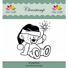 Stempel / Stamp: Transparent Transparent Stempel: Weihnachtsbär mit Stern