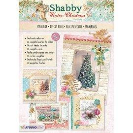 Bücher und CD / Magazines Punch blok A4: Shabby Chic Kerstmis