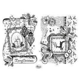 Stempel / Stamp: Transparent selo transparente: Decor Scroll, Feliz Natal