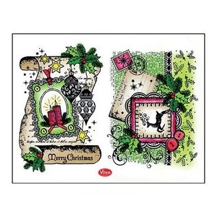 Stempel / Stamp: Transparent Transparent Stempel: Decor Schriftrolle, Merry Christmas