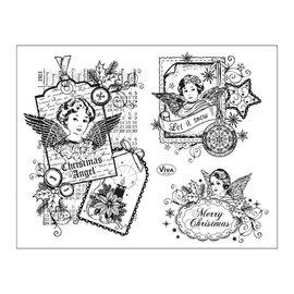 Stempel / Stamp: Transparent selos transparentes: Anjo do Natal