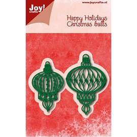Joy!Crafts / Jeanine´s Art, Hobby Solutions Dies /  Corte e gravação em relevo: bolas de natal