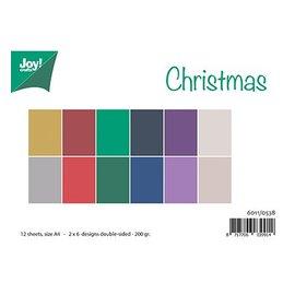 Bücher und CD / Magazines A4 jeu de papier, correspondant Couleurs Uni - Noël
