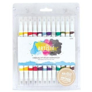 FARBE / STEMPELINK Artiste Permanent Dual Tip Pinselmarker, Farbe Vintage Collection