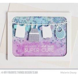 Spellbinders und Rayher Corte e gravação em relevo stencils, roupas de bebê