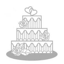 Spellbinders und Rayher Corte e gravação em relevo stencils, Bolo delicado, bolo de casamento