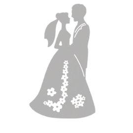 Spellbinders und Rayher Cutting en embossing stencils, huwelijkspaar