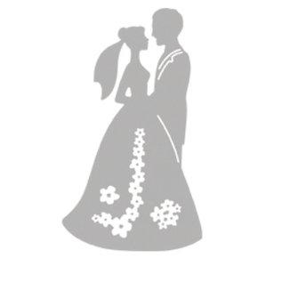Spellbinders Und Rayher Stanz Und Prageschablonen Hochzeitspaar