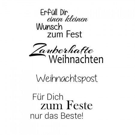 Stempel stamp transparent stamp transparent text german hobby english - Weihnachtskarte freundin ...
